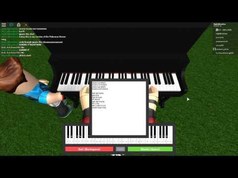 Pokemon Theme Song Roblox Piano Cover Brandon Version W