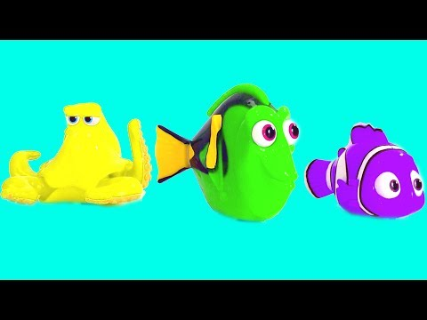 Best Learning Colors Video for Children - Disney Finding Dory Toy Color Mixup Finger Family Game |