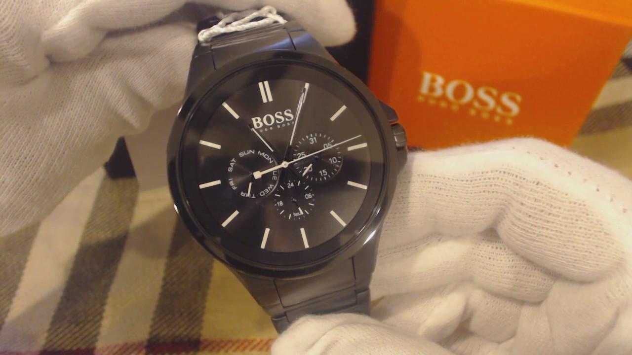 5801bc87a51cd6 Men's Black Hugo Boss Multi Function Stainless Steel Watch 1513172 ...