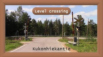 Kukonhiekantie. half-barrier device Saarijärvi