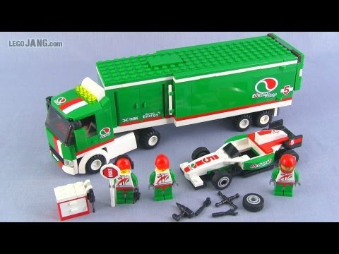 Lego city grand prix truck 60025 set build amp review youtube