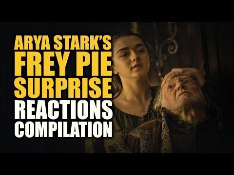 Game Of Thrones ARYA STARK'S FREY PIE SURPRISE Reactions Compilations