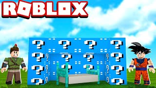 LUCKY BLOCK OF DIAMOND IN THE ROBLOX!! CAN WE SURVIVE?