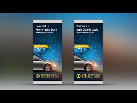 Eye Catching Professional Roll Up Banner Design - Photoshop Tutorial