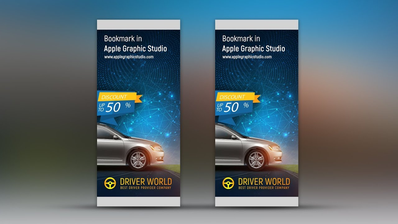 eye catching professional roll up banner design photoshop tutorial