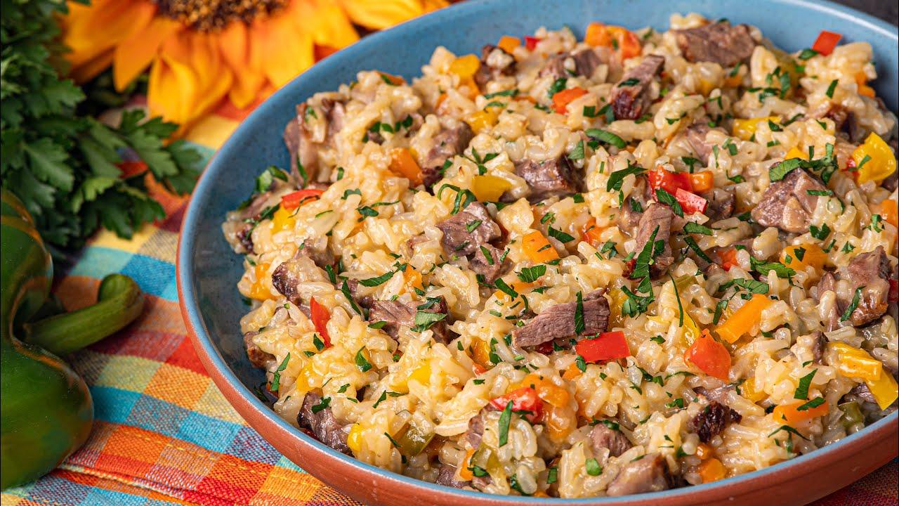 Orez rapid cu legume si carne