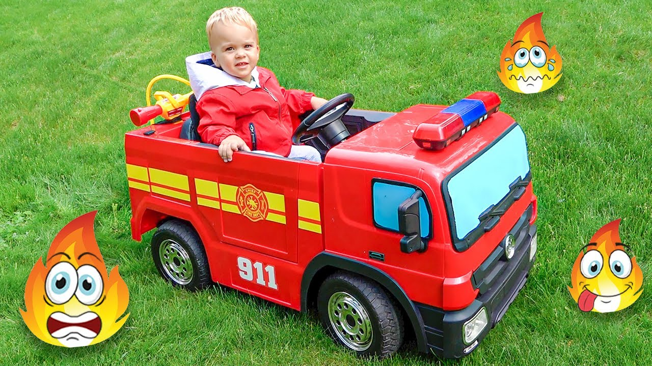Download Vlad pretend play Fireman toys stories for children