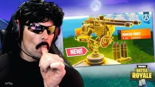 DrDisRespect First Time Using *NEW* MOUNTED TURRET..   HighOctane Fortnite Gameplay (11/14/18)