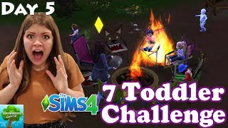 A Toddler Caught On Fire! Sims 4 Seven Toddler Challenge Day 5 / The Adventurers Gaming