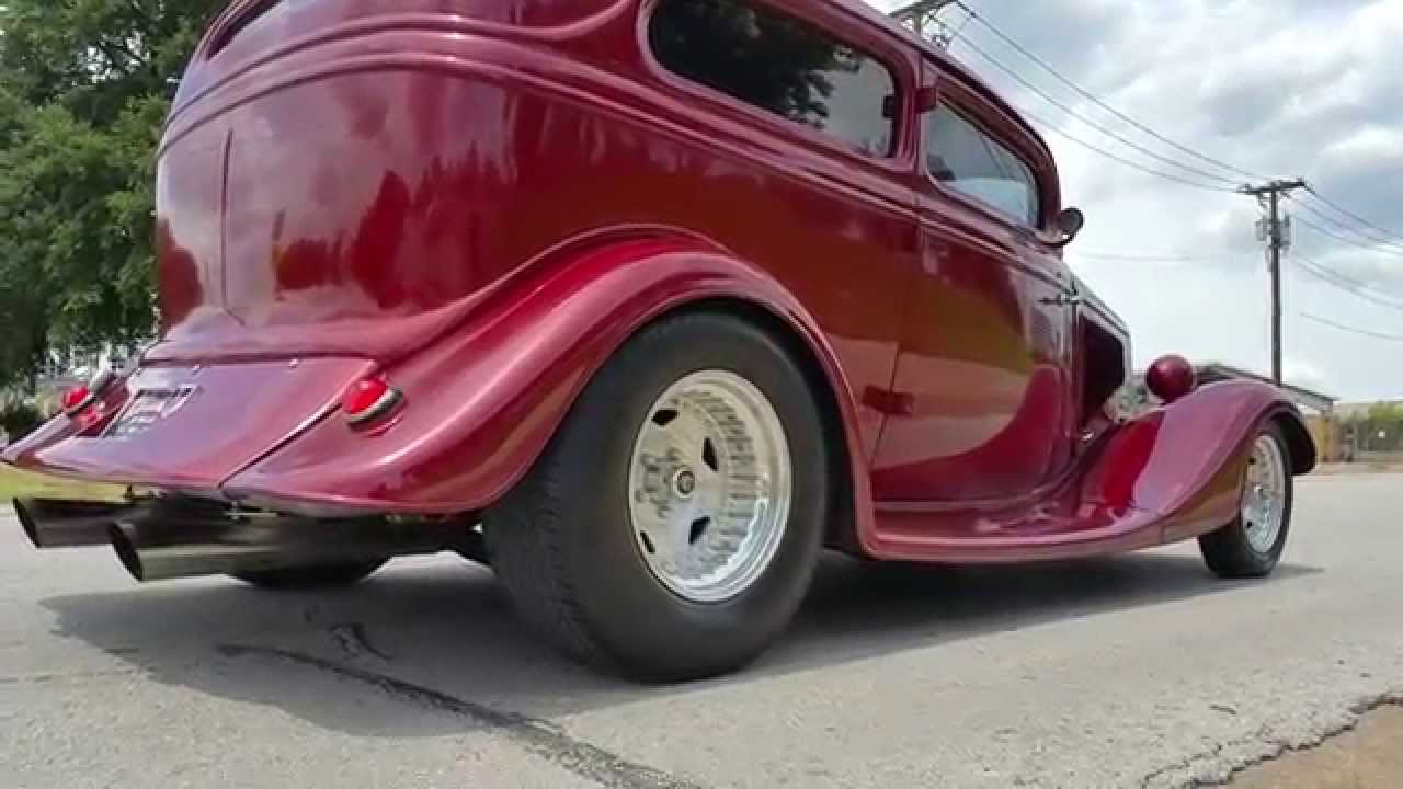 Blown 34 Ford Tudor Henry Ford Steel Street Rod - YouTube
