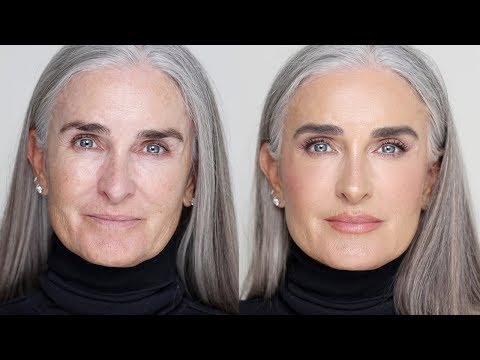 HOW I DO MAKEUP ON MATURE SKIN | Hindash