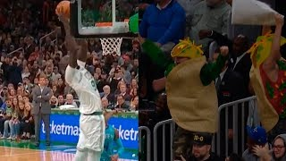 Tacko Fall gets his first NBA bucket on a putback dunk, the crowd go crazy   Celtics vs Hornets