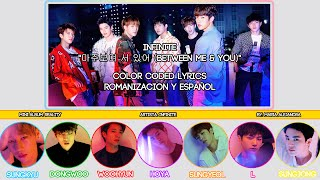 "Infinite  인피니트  ""마주보며 서 있어  Between Me & You ""  Color Coded   Rom