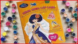 Dolls sticker - ĐỒ CHƠI DÁN HÌNH & TÔ MÀU VÁY ĐẦM CÔNG CHÚA LẤP LÁNH P1 - Đồ chơi Chim Xinh
