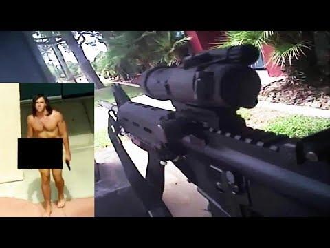 Body Cam Officer Involved Shooting Naked Man with Handgun Las Vegas Metropolitan Police