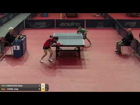 ITTF World Tour Polish Open 2015 MATELOVA Hana vs ZHENG JIAGI