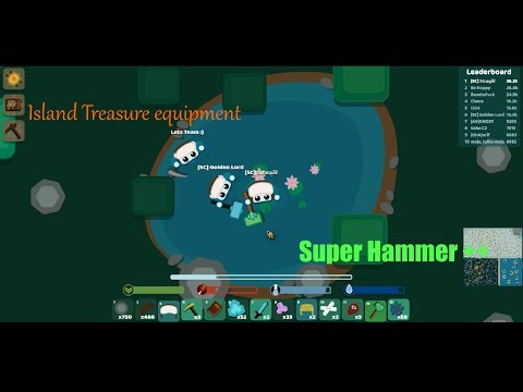 Starve.io -  Super Hammer - How to get Island Treasures ever