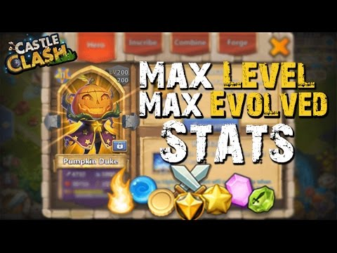 Castle Clash Max Leveled/Evolved PD (Stats) LVL 200