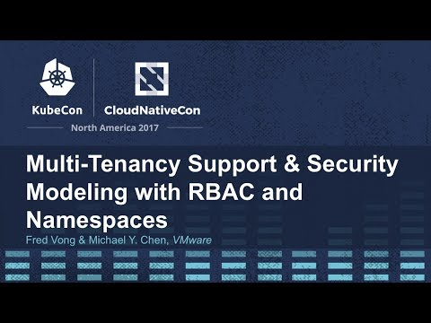 Multi-Tenancy Support & Security Modeling with RBAC and Namespaces