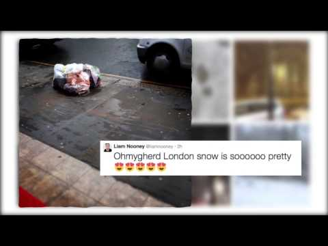 #LondonSnow: Londoners rejoice in the capital's pitiful dusting of snow