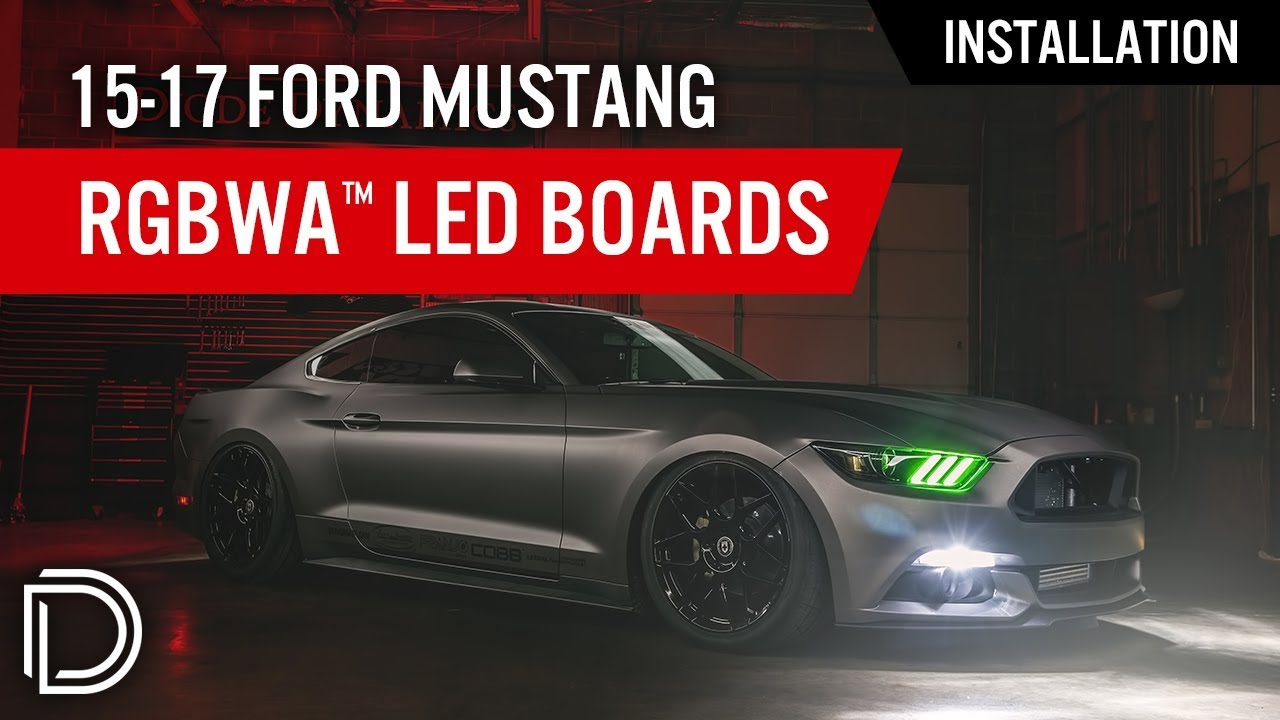 How To Install 2015 2017 Ford Mustang Rgbwa Drl Led Boards By Diode Home Gt Lighting Light Wiring Harness For Bars Dynamics
