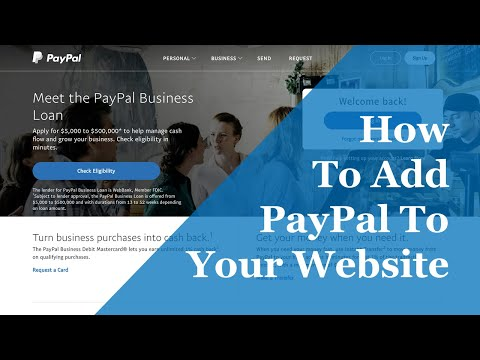 How To Add A PayPal Button To Your Website 2019