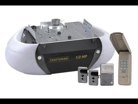 How To Install A 53985 Craftsman 1 2 Hp Garage Door Opener Craftsman Hp 54985 Youtube