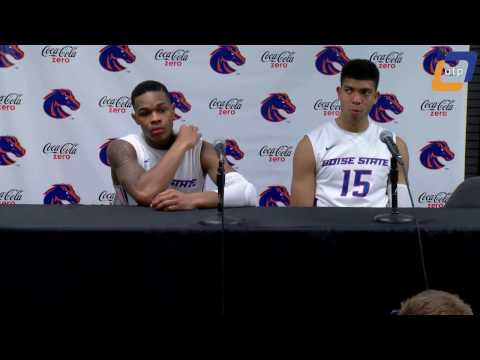 Boise State vs. Wyoming Post Game Conference - Paris Austin and Chandler Hutchison