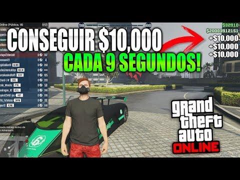 Asi CONSIGUES $10,000 Mil Dolares Cada 9 SEGUNDOS - Conseguir DINERO INFINITO En GTA 5 ONLINE! 🤑