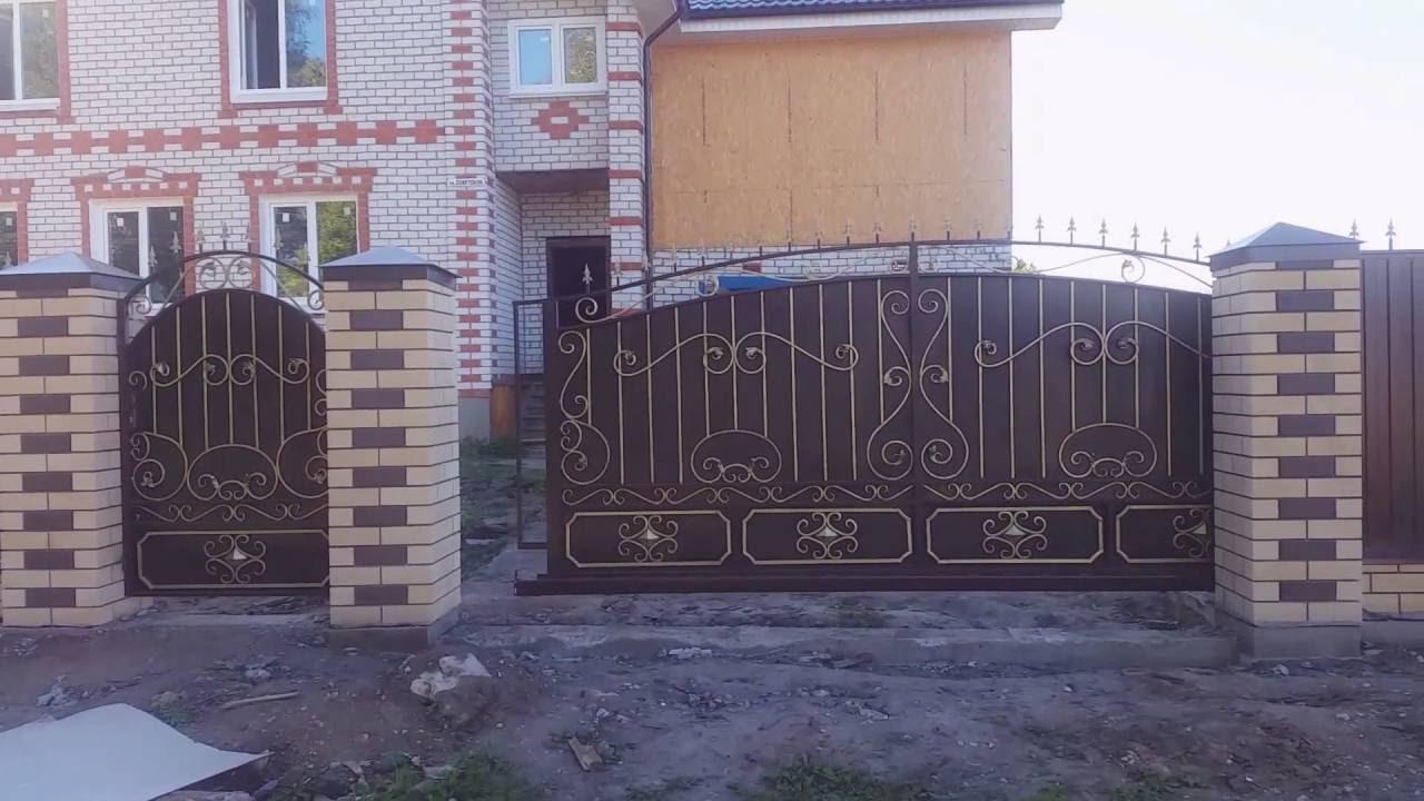 Кованые откатные ворота с автоматикой. Нижний Новгород ...
