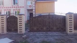 видео Ворота откатные кованые
