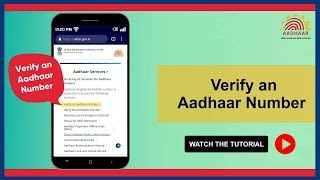 Verify any Aadhaar Number online