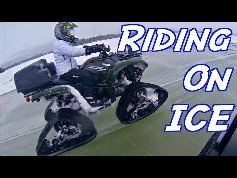 ❄️ ATV Riding On Water 👍 -  CRAZY First Wet Slushy Lake Track Ride Of The Year  - Jan. 22, 2017🇨🇦