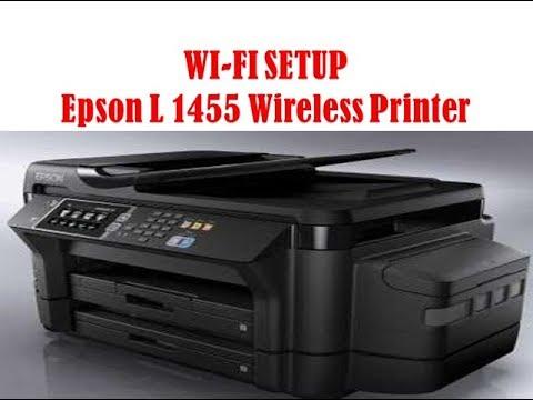 How To Setup Wifi Epson L 1455 Photo Printer Epson L 1455 Wireless Printer L 1455 Usb Print Youtube