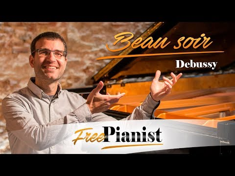 Beau soir - KARAOKE / PIANO ACCOMPANIMENT - Low voices (D Major) - Debussy