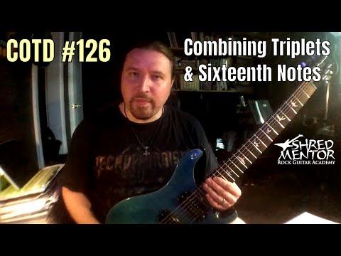 Combining Triplets & Sixteenth Notes | ShredMentor Challenge of the Day #126