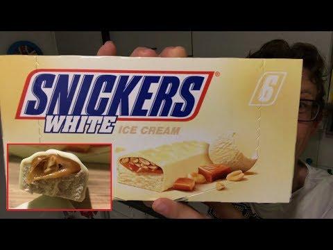 Snickers White Icecream im Test - Wo du das weiße Snickers Eis zum Preis von 2,99 Euro kaufen kannst