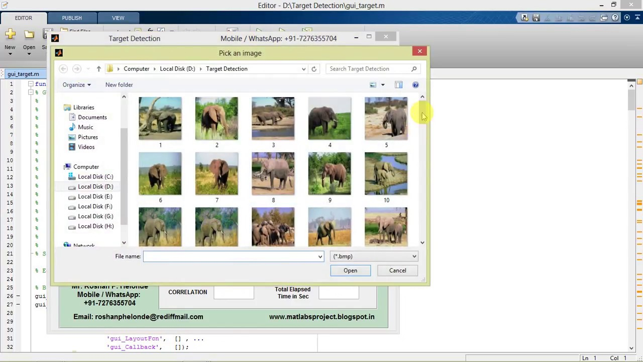 Target Detection Using Image Processing Matlab Project Code