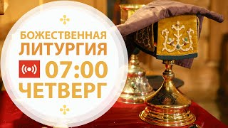Трансляция: Литургия. 14 января  2021 (четверг)  07:00