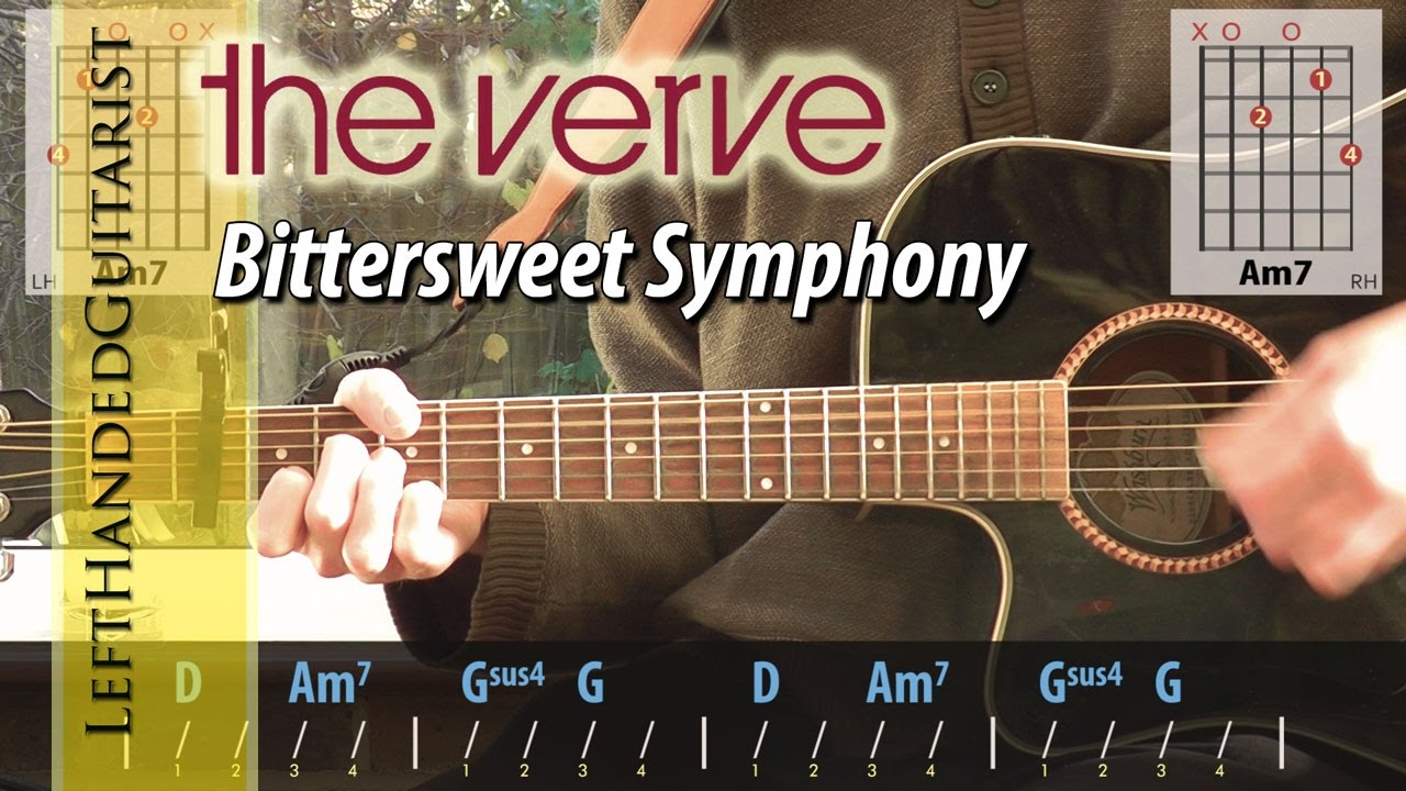 The Verve Bittersweet Symphony Acoustic Guitar Lesson Youtube