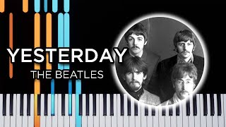 Yesterday (Beatles) - easy piano tutorial