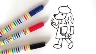 ペンで描きました! このイラストは「犬のボールペンイラスト (ブティッ...