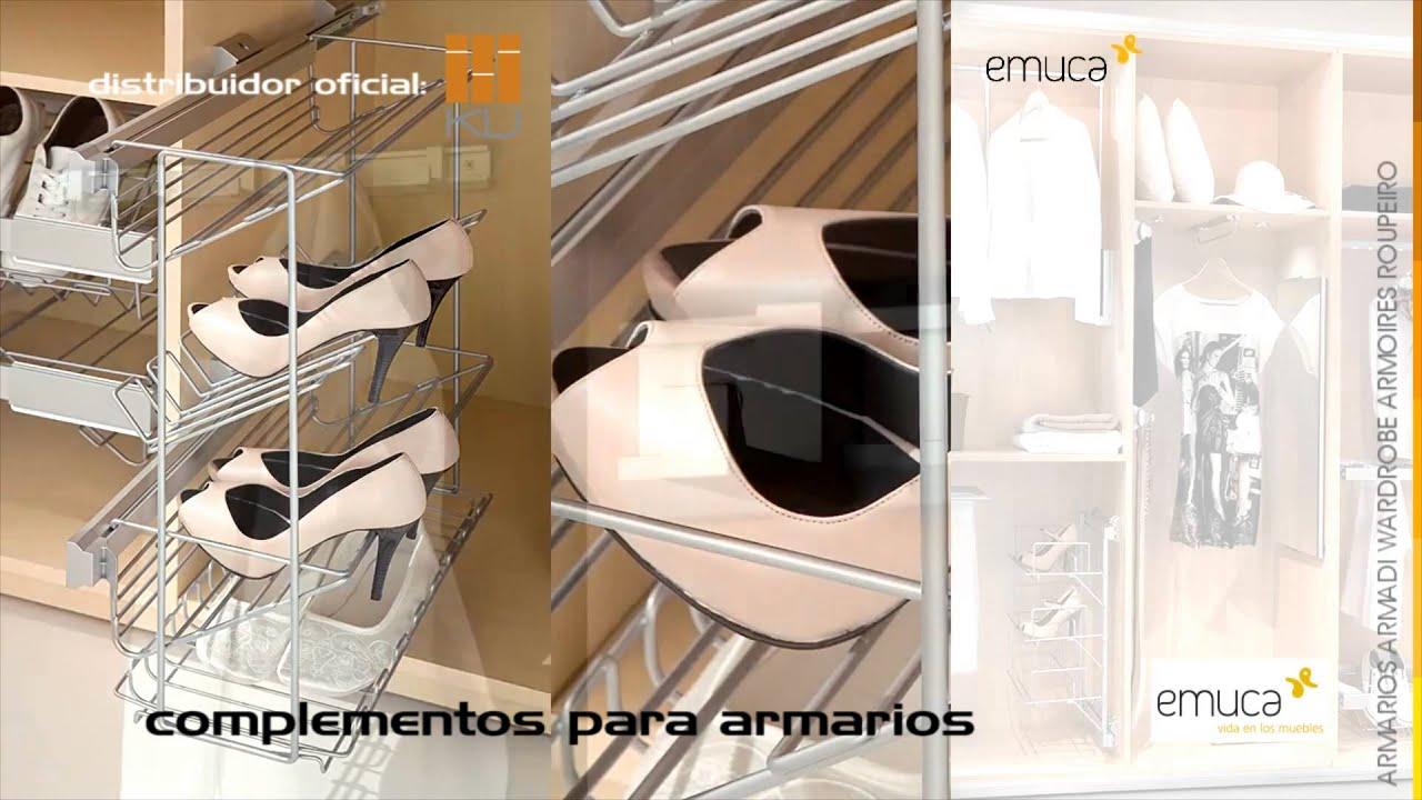 Complementos para armarios emuca distribuidor oficial ku - Complementos para armarios ...