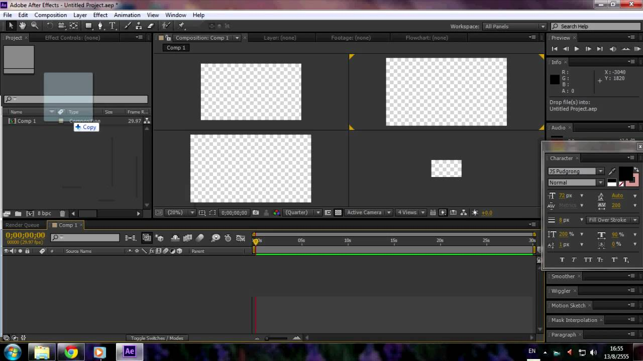 Adobe After Effect CS6 Error.Could not convert Unicode characters ...