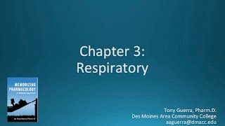 (CC) Top 200 Drugs Chapter 3 Respiratory Nursing Pharmacology by Suffix (Memorizing Pharmacology)