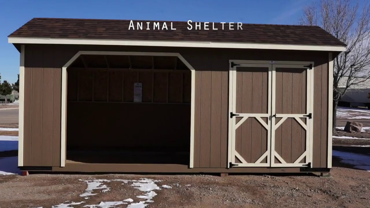 The Shed Yard - 10x12x8 Animal Shelter