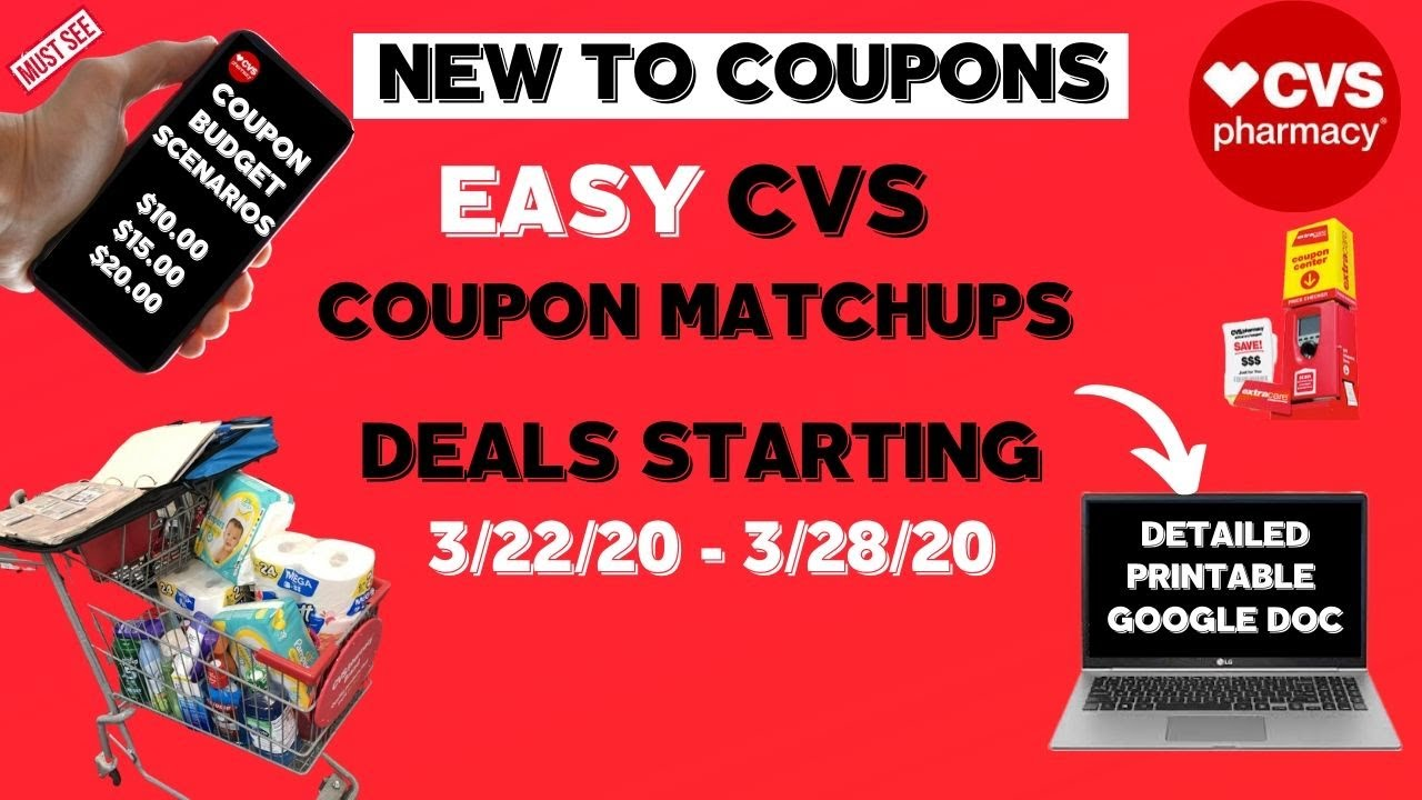 Free Cheap Cvs Coupon Matchups Deal Breakdowns 3 22 Very Easy Come With Me To Cvs Youtube