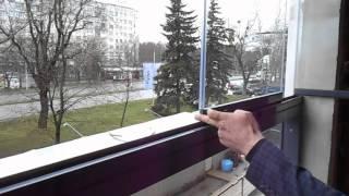 видео Безрамное остекление балкона система Lumon