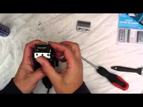 How To Clean And Change Blades On Wahl Taper Clippers Youtube