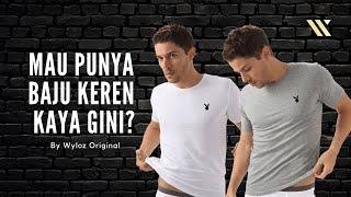 Baju Kaos Dalam Oblong Singlet Gym Fitness Putih Hitam Playboy Polos Katun Cowok Pria Murah Terbaru